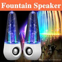 Fuente de la música llevado España-Música Fuente altavoz ligero altavoz de baile de luz LED de agua Altavoz colorido agua caída Mostrar altavoz para el iphone ipad PC