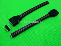 Wholesale 10cm RGB pin male connector for RGB strip male type pin needle connector