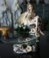 ceramic figurines - resin fairy angel candy tray art Home furnishing food bowl wedding gift figurine decoration products