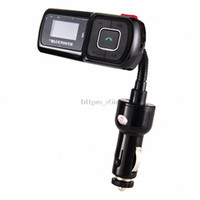 Cheap Car MP3 Player FM Transmitter Bluetooth Car Kit Hands-free LCD Display w Remote Control Cell Phone Charging USB MICRO SD Reader AUX IN