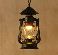 barn light pendant - Barn Lantern nostalgic vintage pendant lights project light bar lamps fashion lighting lamps E27 AC110 V