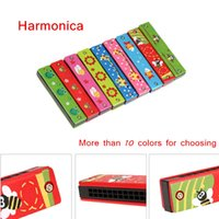Wholesale Educational Toy Musical Instruments Tremolo Harmonica Holes Harmonica Musical Toy Gift for Kids