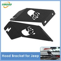 Wholesale 2014 New LED Offroad Lamp Bar Bracket for Jeep Wrangler JK Hood Bracket inch Led Light Bar Brackets for Jeep JK