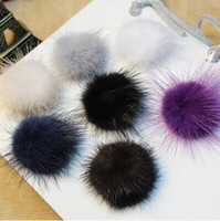 Wholesale MM real mink fur pom pom balls for hat cap shoes jewelry cloth