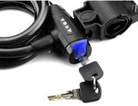 Wholesale New Bike Bicycle Key Security Lock Steel Combination Wire x1200mm with Bracket