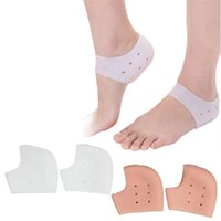 Wholesale Stylish Pair High Quality Silicone Moisturizing Gel Heel Socks Like Cracked Foot Skin Care Protectors for lady foot cares tool