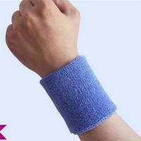 Wholesale X Sweatbands Terry Cloth Cotton Wristband Sweat Band Sports Yoga Workout Running WP13