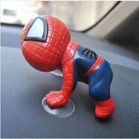 Wholesale 16CM Spider ManToy Climbing Spiderman Window Sucker Spider Man Doll Car Home Interior Decoration color X HM141