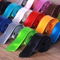Wholesale New Hot Colors Casual Narrow Arrow Ties For Men Fashion Skinny Necktie Neck Ties Candy Color Slim Men s Ties