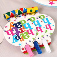 Wholesale Birthday Party Long Blowing Dragon Happy Birthday Cartoon Color PVC Speaker Blowout Carnival Children Gift