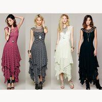 Wholesale 2016 New arrivals european style women clothing lady irregularity lace dress women sexy long wedding party dress