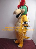 bowser costume - Fierce Yellow Bros King Bowser Mascot Costume Mascotte Super Mario Dragon Turtle With Red Hairs Big Sharp Horn No Free Ship