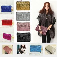 Wholesale Brand New Fashion Shing Dazzling Glitter Sparkling Bling Sequins Evening Party purse Bag Handbag Women Clutch wallet Cheap Hot Sale BagMYF52