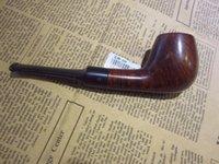 Pipe de bruyère haute qualité combattre droite cigarette noir support porte-cigarette brillant importés importations de tubes consulter ou en rupture de stock