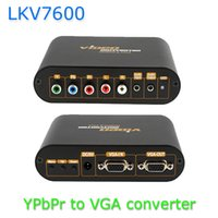 xbo 360 - 1080P YPbPr RCA Component to VGA Video Audio Converter For PS3 PS2 Xbo Wii PSP HD Box LKV7600