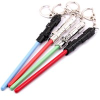 Wholesale Star Wars Lightsaber Keychain Colors with Card Star Wars Keychain in stock high quality