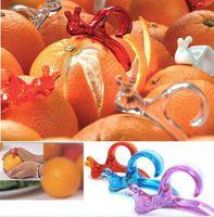 Wholesale 10 Kitchen Cooking Tools Orange Lemon Citrus Fruit Snail Style Plastic Slicer Cutter Opener Peeler Grapefruit Remover Scraper