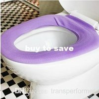 Cheap FEDEX FREE SHIPPING! 600PCS LOT Toilet set pad thermal toilet mat toilet seat set toilet cushion cover 29g MIXED COLOR