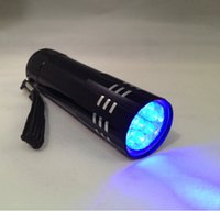 flashlight in torch light - Black LED Purple Light Aluminium Torch UV Flashlight for Blacklight Invisible Ink Marker