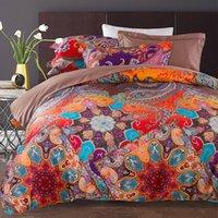 Wholesale 2016 New quality Cotton Reactive Print Designers d Bedding Sets Flowers Print Comforter Duvet Covers Bedclothes Bed Linen Stain