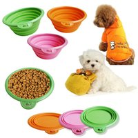 Wholesale Foldable Dog Bowls for Small Dog Portable Plastic Dog Stand Bowl for Drinking Water Pet Bowl Pet Products