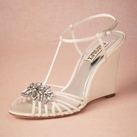 animal print wedge heels - Delicate Straps Crystal Wedding Shoes Custom Pumps T Straps Buckle Closure Stiletto heeled Ladies Shoes quot High Wrapped Heels Women Sandals