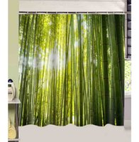bamboo bathroom products - bathroom products Forest Green Bamboo printed cmx180cm polyester fabric Shower Curtains