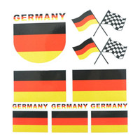 auto cars germany - New Car Styling Hot Sale Auto Safety Waterproof Reflective Decals Germany Flag Decorative Sticker Accessiories