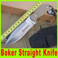 Boker cuchillo recto táctico AUS-8 58HRC de la lámina al aire libre pesca la caza que acampa cuchillo cuchillos lámina de Sharp cuchillo de múltiples funciones 482x