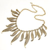 Chokers Asian & East Indian Women's 2015 Fashionable Vintage alloy collar costume leaves pendant Choker jewelry necklace For Women High Quality Wholesale