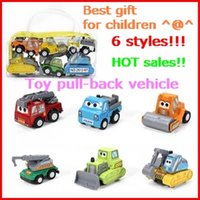 bagged mini truck - 6 bag pull back vehicle Children toy car excavator bulldozer Model loaded truck suit best gift