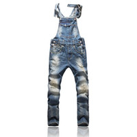 Wholesale Front Pocket Design Relaxed Front Pocket Design Relaxed Fashion Denim Overalls For Men Overalls For Men