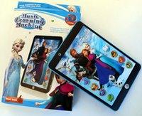 Mejor juguete educativo del regalo 3D YPAD Inglés Machine Learning juguetes Tablet estilo Frozen Informática para niños embroman wtih sonido de cine y música