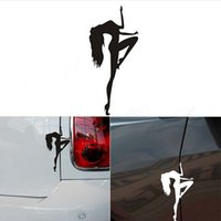 Wholesale Pole Dancing Car Stickers Waterproof On Rear Windshield Door Tank Lid Decal