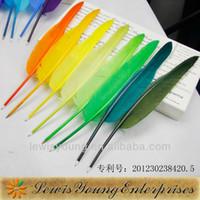 al por mayor bolígrafo de la pluma-Al por mayor-promocional bola pluma pluma, pluma de ave