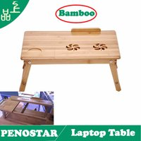 bamboo computer table - NEW Eco Friendly Bamboo Computer Laptop Desk with USB Fan Lapdesks Meihaojia Bamboo Home Laptop Table Bed Folding tables desk