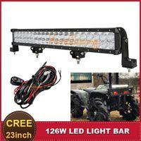 Cheap 23 Inch CREE 126W LED Light Bar Combo Beam Offroad SUV Auto Car Boat Wagon UTE AWD 4X4 Auxiliary Bumper Driving Lamp Headlight