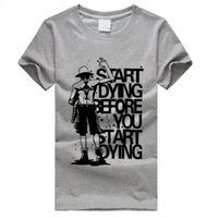 ace animation - ONE PIECE Anime Portgas D Ace t shirts Cartoon Animation Casual Sport t shirt men O Neck Short Sleeve tshirt Plus Size