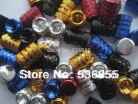 Wholesale High quality Aluminum colorful car wheel tire valve caps tyre air dust cap stem mixed color assorted Promotion