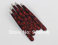 tweezers - 10Pcs Flower Print Stainless Steel Bevel Tweezers Fireworks Pattern Eyebrow Clamps Hair Tweezer Remover