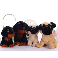 Precio de Juguete de peluche bulldog-perro de peluche juguetes de peluche tristeza perro negro que mira barro amasado peluche animal de juguete bebé bulldog cachorro de amigos de muchachas niños de 18 / 22cm