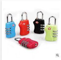 Wholesale TSA Luggage Strap Locks Digit Plastic Alloy Lock Password Customs Luggage Padlock Combination Suitcase Padlock Luggage Travel Lock Dhgate