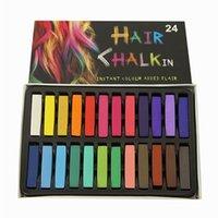 Wholesale 24 Colors short hair Fashion Hot Fast Non toxic Temporary Hair Chalk Dye Soft Pastel DIY mix color