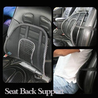 Wholesale New Car Seat Office Chair Back Cushion Back Lumbar Massage Pain Relief Seat Posture Corrector Black Mesh Ventilate Cushion Pad