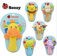 Wholesale 2016 M Baby Boys Girls Hand Rattles Softy Hand Ring Bell Toys Animals Bells Shake Cotton Sharking Rings Kids Children Plush Toy