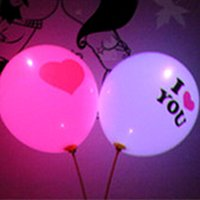 light up toys - Factory Price I LOVE YOU Style LED Balloon Flashing Balloon Glowing Light Up Toy Party Filler Wedding Halloween Decorative Lights waitingyou