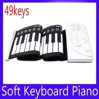 Precio de Piano del teclado suave 49-Portátil ruede hasta 49 teclas estándar Teclado suave Piano MOQ = 1 envío gratis