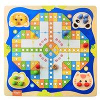 Wholesale Wooden flight chess snake chess dual parent child child casual desktop toys