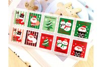 Wholesale Christmas stamps sealing pastes DIY packaging decoration stickers