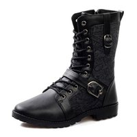 mens boots - High Quality Genuine Leather Boots for Men Black Color Cool Mens Boots Best Men Casual Boots MH22258